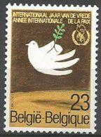 Belgium - 1986 Peace Year MNH **    Sc 1239 - Unused Stamps