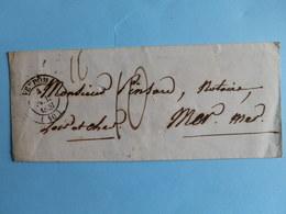 MARQUE POSTALE DE VENDOME A MER DU 4 MAI 1851 - 1849-1876: Période Classique