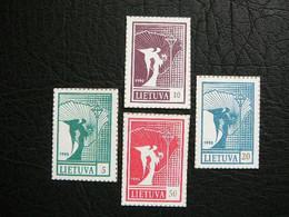 Definitive Issue.Angel And Map # Lietuva Litauen Lituanie Litouwen Lithuania 1990 MNH # Mi.461/4 - Lithuania
