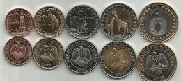 10 - 20 - 50 Piasters ,1 Pound And 2 Pounds 2015. UNC - Monete