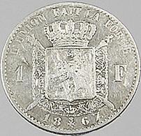 1 Franc  - Belgique - 1867 - TB+ -  Argent - - 1865-1909: Leopold II