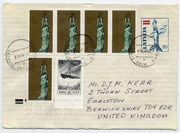 LATVIA 1992 Stationery Envelope 50 K. With Mixed Latvia/Soviet Union Franking.  Michel U21 - Latvia