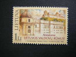 Let Rebuild The Palace Of Lithuanian Rulers # Lietuva Litauen Lituanie Litouwen Lithuania 2003 MNH # Mi. 817 - Lithuania