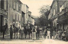 - Dpts Div.-ref-XX162- Aveyron - Vabres - Grand Rue - Cafe - Cafes - Enfants - Presentation De Chevaux - - Vabres