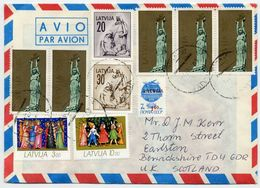 LATVIA 1992 Airmail Cover With Mixed Franking - Latvia