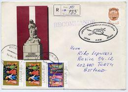 LATVIA 1992 Registered Cover With Commemorative Postmark. - Latvia