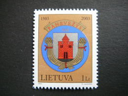 500th Anniversary Of Panevezhis # Lietuva Litauen Lituanie Litouwen Lithuania 2003 MNH # Mi. 828 - Lithuania