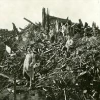 France WWI Bataille De La Somme Chateau De Deniecourt Ruines Ancienne Photo SIP 1916 - War, Military