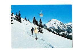 Cpsm -  Suisse  -  Télécabine LEYSIN - BERNEUSE Le Mont-d'or - N°27 - VD Vaud