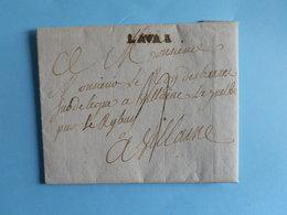 MARQUE POSTALE DE LAVAL A VILLAINE DU 9 SEPTEMBRE 1785 (Marque Linéaire LAVAL) - Marcophilie (Lettres)