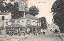 SARCELLES - Rue De Paris Et Boulevard De La Gare - Attelage - épicerie - Sarcelles