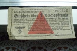 REICHSPFENNIG Argent Prisonniers Guerre 1940/45 - 1939-45