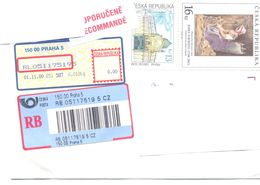 2000. Czech Republic,  The Letter Sent By Registered Air-mail Post To Moldova - Lettres & Documents
