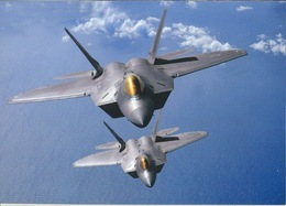 Aviation Postcard- US AIR FORCE F-22 Raptors Military Card M047 - 1946-....: Moderne