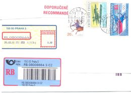 2001. Czech Republic,  The Letter Sent By Registered Air-mail Post To Moldova - Lettres & Documents
