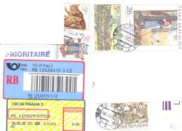 2002. Czech Republic,  The Letter Sent By Registered Air-mail Post To Moldova - Lettres & Documents