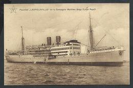 """+++ CPA - Bateau - Paquebot """"LEOPOLDVILLE"""" De La Compagnie Maritime Belge  // - Passagiersschepen"""