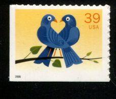 513552183 USA  POSTFRIS  MNH *** YEAR 2006 SCOTT 4029 Love Birds Links En Onder Ongetand - Etats-Unis