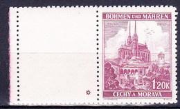 Boheme Et Moravie 1939 Mi 29 Zf (Yv 29 Avec Vignette), (MNH) ** - Bohemia & Moravia