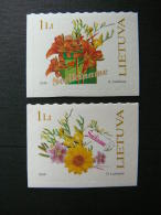 Flowers.Congratulations # Lietuva Litauen Lituanie Litouwen Lithuania 2005 MNH # Mi. 866/7 - Lithuania