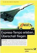 Werbekarte Deutsche Post Express (mit Concorde) - Gewinnspielkarte - 1946-....: Moderne