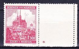 Boheme Et Moravie 1939 Mi 30 Zf (Yv 30 Avec Vignette), (MNH) ** - Bohemia & Moravia