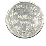 2 Francs  - Belgique - 1909 - TTB+ -  Argent - - 1909-1934: Albert I