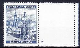 Boheme Et Moravie 1939 Mi 32 Zf (Yv 32 Avec Vignette), (MNH) ** - Bohemia & Moravia