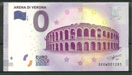 Billet Touristique 0 Euro 2017  ITALIE Arênes De Vérone - Essais Privés / Non-officiels