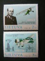 Birth Centenary Of A.Gustaitis. Planes # Lietuva Litauen Lituanie Litouwen Lithuania 1998 MNH # Mi. 662/3 Famous People - Lithuania