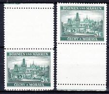 Boheme Et Moravie 1939 Mi 35 Zf (Yv 35 Avec Vignette), (MNH) ** - Bohemia & Moravia