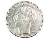 20 Francs  - Belgique - 1935 -  TTB -  Argent - - 1934-1945: Leopold III