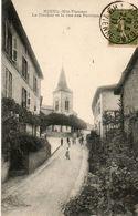 CPA NIEUL. Le Clocher Et La Rue Des Perrons. 1917. - Nieul