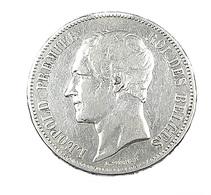 5 Francs  - Belgique - 1865 -  TB+ -  Argent - - 1831-1865: Leopold I