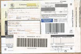 France 2017 Saint Quentin Colissimo International 4,8kg Parcel Label - Marcofilie (Brieven)