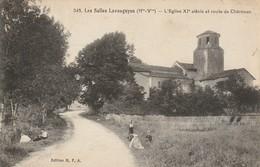 C.P.A. Les Salles Lavauguyon   L'Eglise XI Siècle Et Route De Chéronac - France