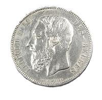 5 Francs  - Belgique - 1871 -  TTB + -  Argent - - 09. 5 Francs