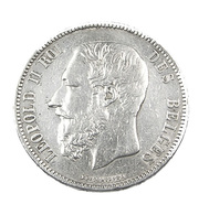 5 Francs  - Belgique - 1870 -  TB+  -  Argent - - 09. 5 Francs