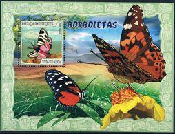 Bloc Sheet Papillons Butterflies  Neuf  MHH ** Mozambique Mocambique 2007 - Papillons