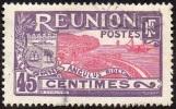 Réunion Obl. N°  66 - Site - Vue De La Rade De Saint Denis - 45cts Violet Et Rouge - Oblitérés