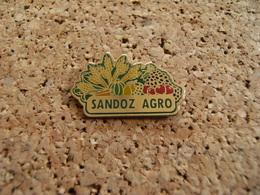 Pin's Agriculture Culture Céréales Fruiticulture Maraîchage Phytopharmacopée SANDOZ  AGRO époxy - Food