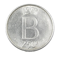 250 Francs  - Belgique - 1976 -  TTB  -  Argent - - 1993-...: Albert II