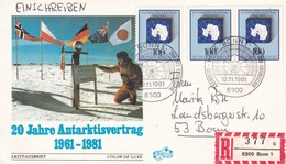 1981 GERMANY REGD COVER WITH ANTARTICA STAMPS - Other Means Of Transport