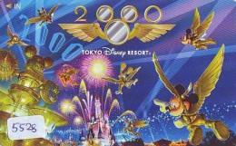 Télécarte Japon * 110-011 * DISNEY RESORT (5528) MILLINNIUM 2000  * Japan Phonecard TELEFONKARTE - Disney