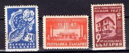 BULGARIA.  AÑO 1947.  Yv  544/546 (MNH). - 1945-59 República Popular