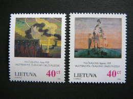 85th Death Anniversary Of M.Chiurlionis # Lietuva Litauen Lituanie Litouwen Lithuania 1996 MNH # Mi. 617/8 - Lithuania
