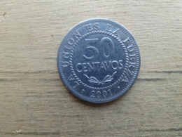 Bolivie  50  Centavos  2001  Km 204 - Bolivia