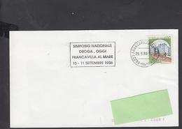 "ITALIA  1988 -  Targhetta  Speciale - Simposio ""droga"" - Droga"
