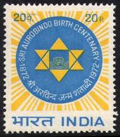 INDIA STAMPS, 15 AUG 1972, SRI AUROBINDO, MNH - India