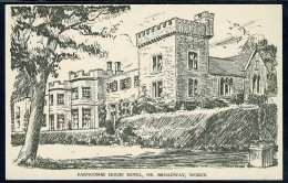 RB 1186 -  Postcard - Farncombe House Hotel Near Broadway Worcestershire - Worcestershire